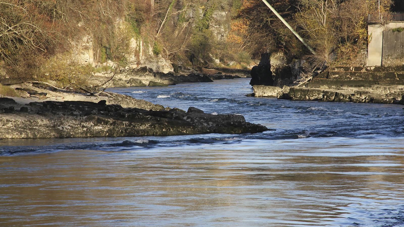 aareschlucht-brugg_felsrinne_brunnenmühlesteg_kalkstein_niedrigwasser