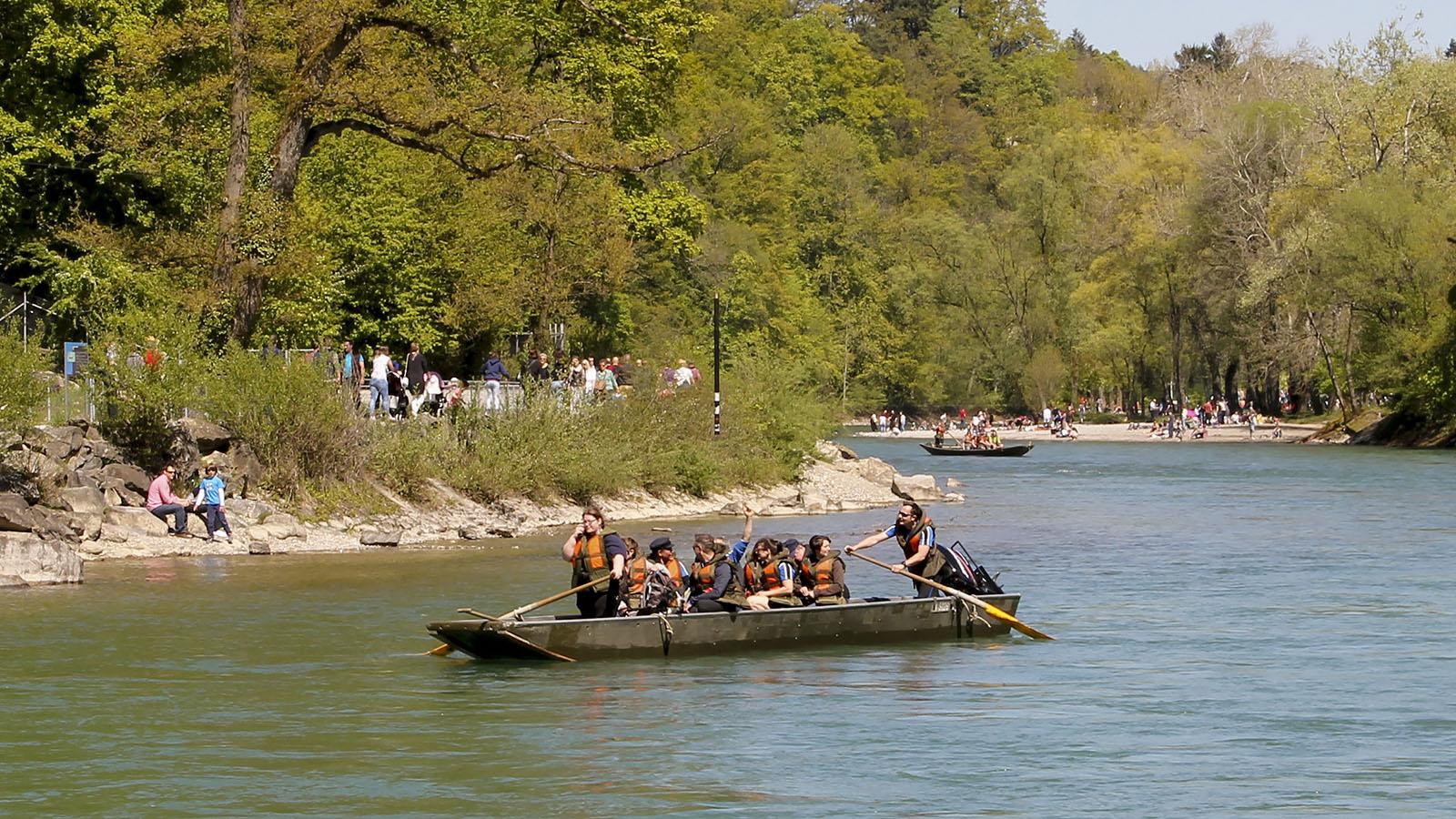 Im Eichholz erreicht die Aare den Berner Stadtrand