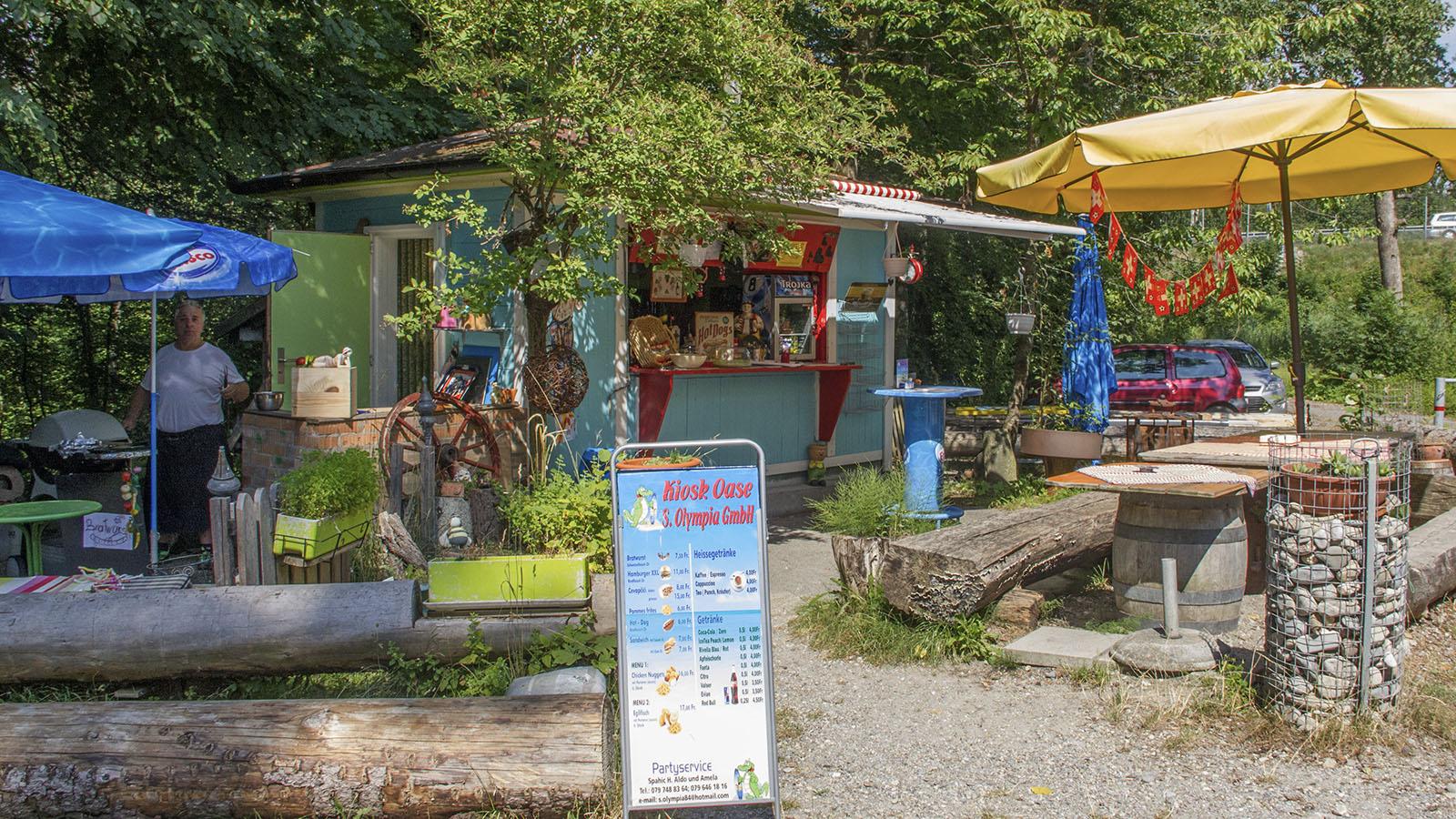 Wird seit 16 Jahren vom Ehepaar Spahic betrieben: Der Kiosk Oase am rechten Flussufer unterhalb der Hunzigenbrücke