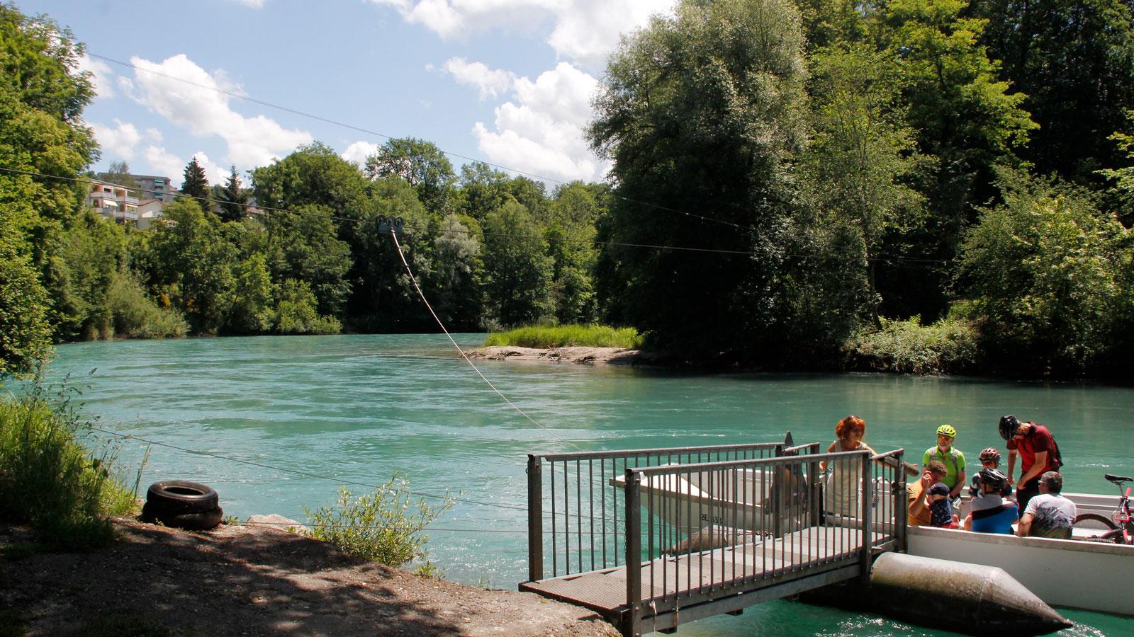 Flussbiegung bei der Fähre Reichenbach