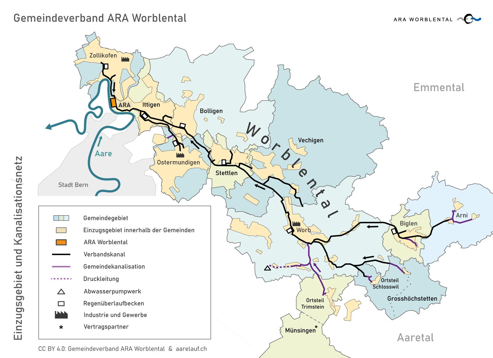 gemeindeverband-ara-worblental_einzugsgebiet_kanalisationsnetz_verbandsgemeinden_2018